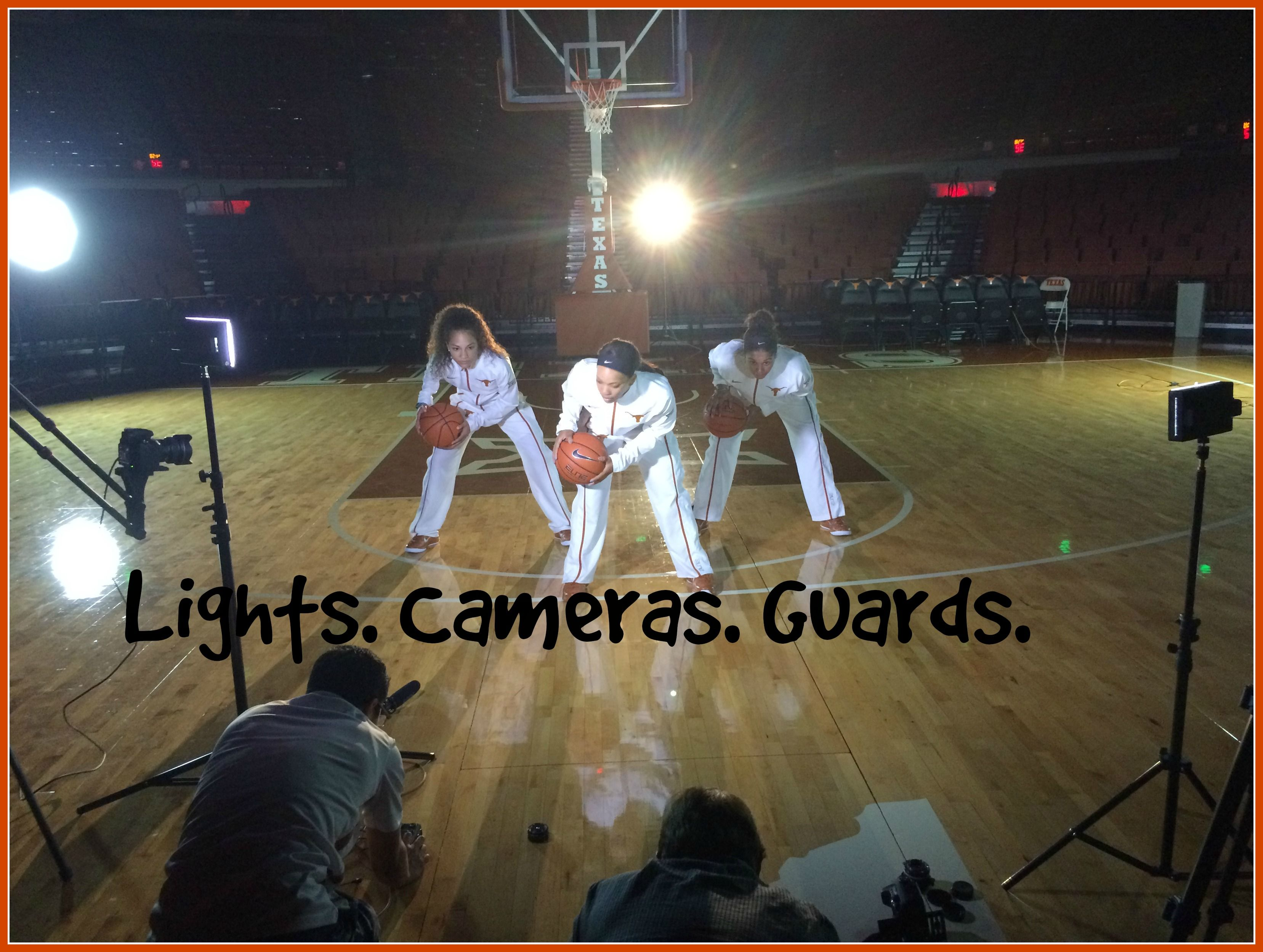 Lights. Cameras. Guards. HornsVideoShoot ShockAndWow