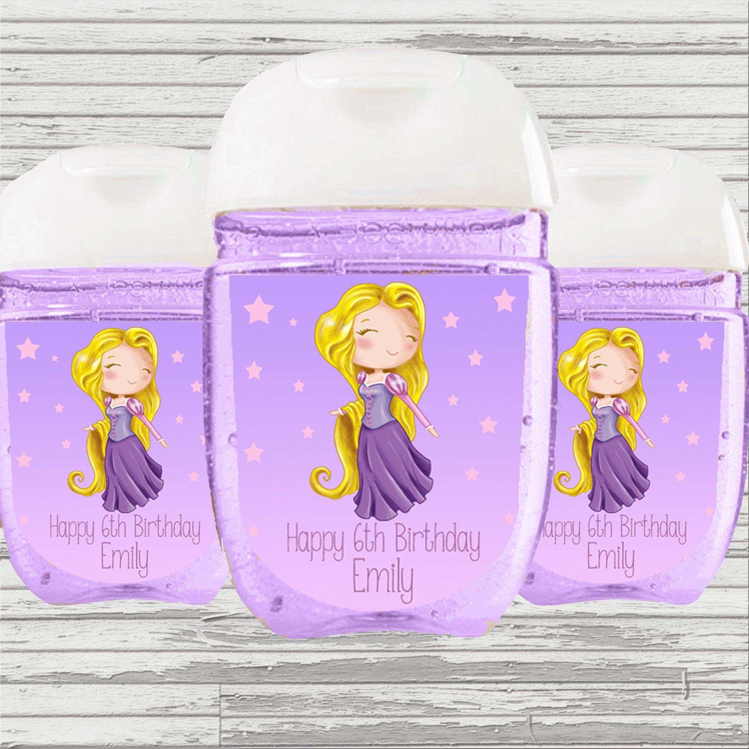 Rapunzel Princess Theme Baby Shower Birthday Favor Hand Sanitizer