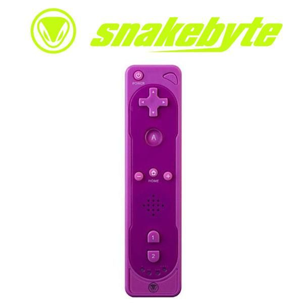 Purple Wii Controller | Snakebyte Remote Controller For Wii Purple | Gaming Accessories | G