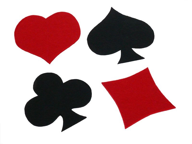 """Untersetzer - Filzuntersetzer """"Spielkarten-Farben"""" - ein Designerstück von Decotina bei DaWanda - http://de.dawanda.com/product/74390811-filzuntersetzer-spielkarten-farben"""