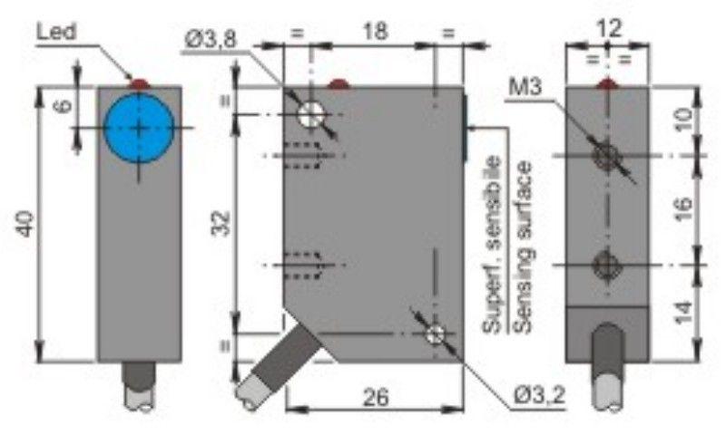 Sip12a2 Nc Sip000041 Sensor De Prox12mm Diamsensa 2mm 20 250vac