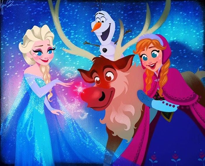 Christmas Wallpaper Red Nosed Reindeer Disney Princess Frozen Videos The Ojays Natalina Haha