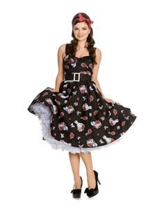 0c91a9857f81 Hell Bunny 50s Drink Me Alice In Wonderland Dress