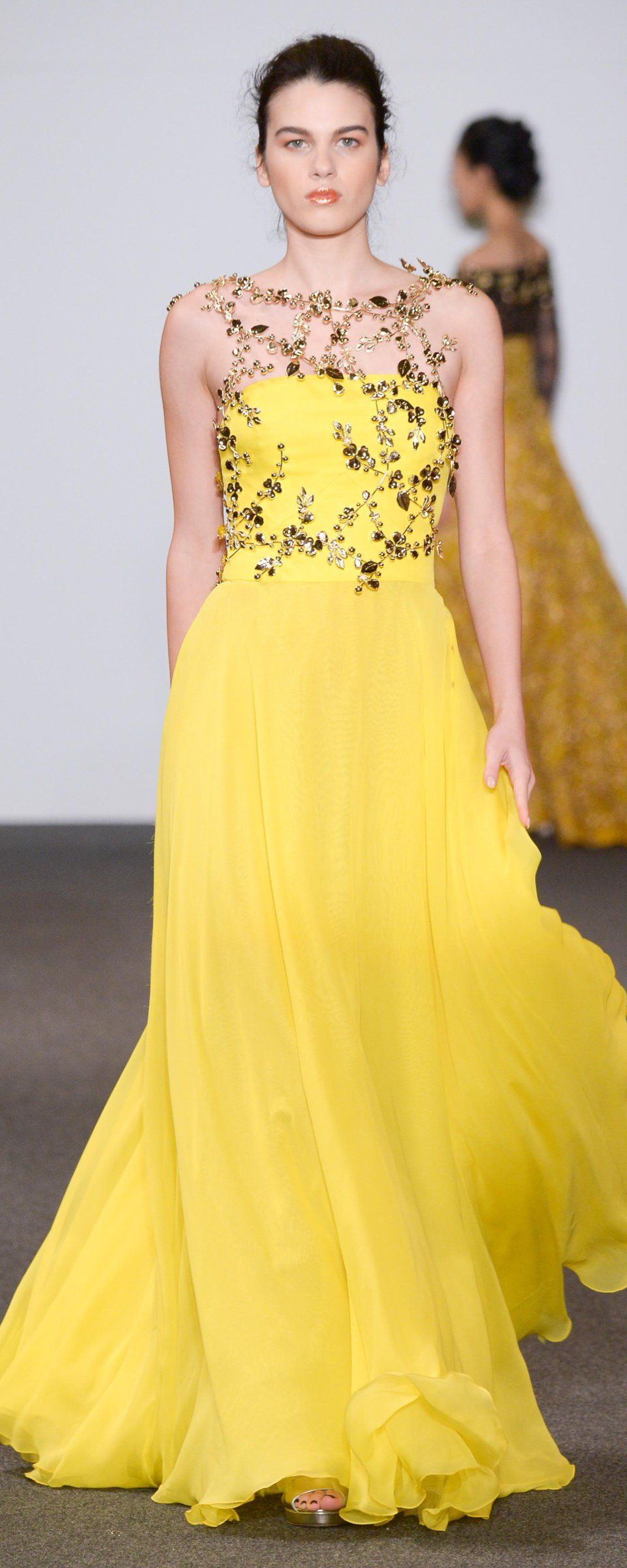 Dany Atrache Primavera Verão 2016 Alta Costura Yellow Fashion Gorgeous Gowns Fashion