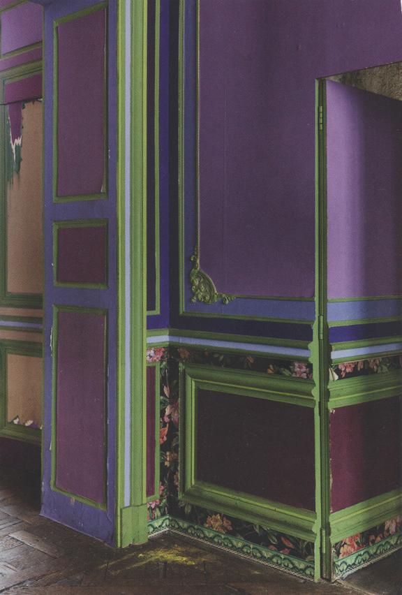 Wall Painting Mauve Purple Blue Green Decor