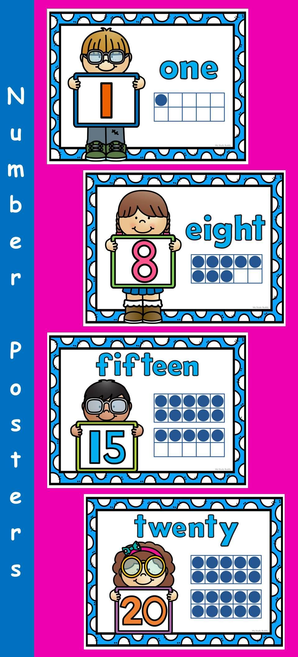Number Posters 0-20 (Back to School / Classroom Decor) | School ...