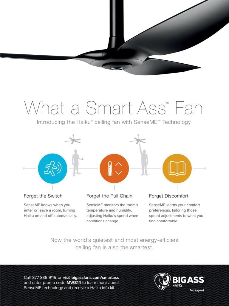Haiku With Smart Senseme Technology From Big Ass Fans Ceiling Fan By