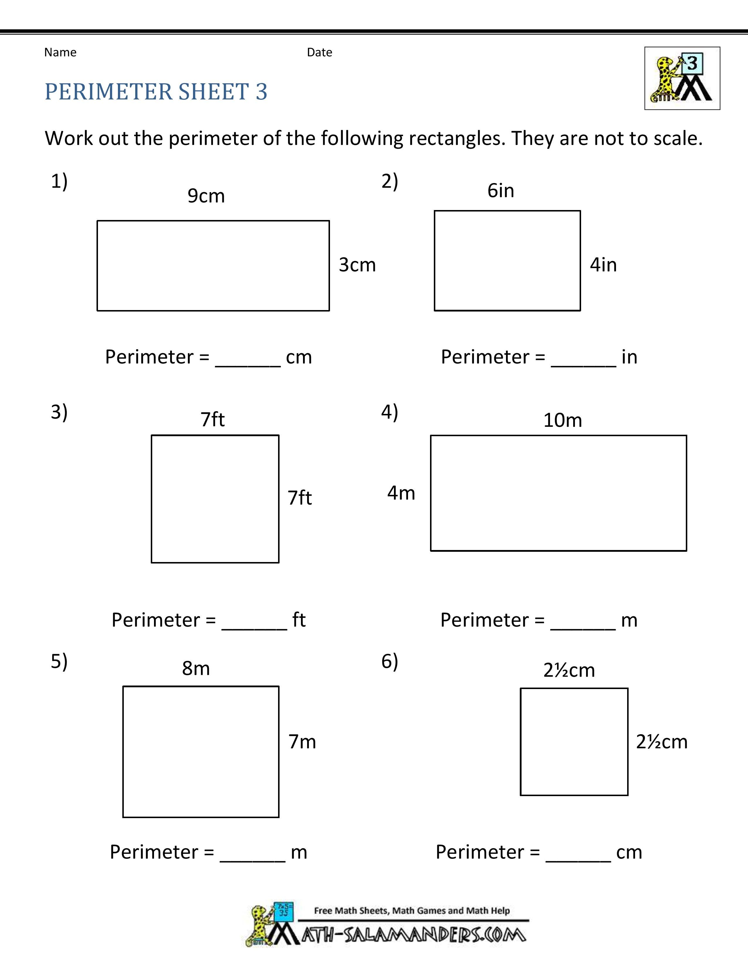 Best 10 Area And Perimeter Worksheet