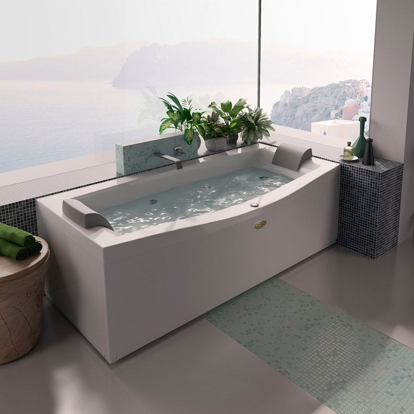 Jacuzzi Essentials Double Ended Whirlpool Bath 1800 X 880 Whirlpool Bath Bathtub Remodel Jacuzzi Bath