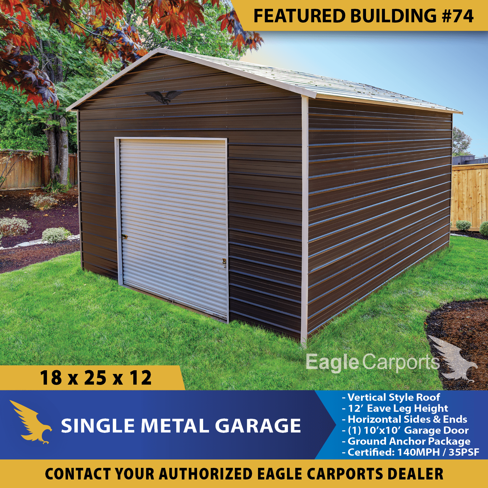 Who Doesn T Need A Garage From Time To Time How About This One Free Installation Too Call Us 903 513 68 In 2020 Portable Buildings Metal Buildings Eagle Carports
