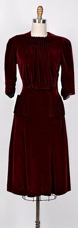 ★ vintage 1940s dress | Cranberry Compote Dress | www.adoredvintage.com
