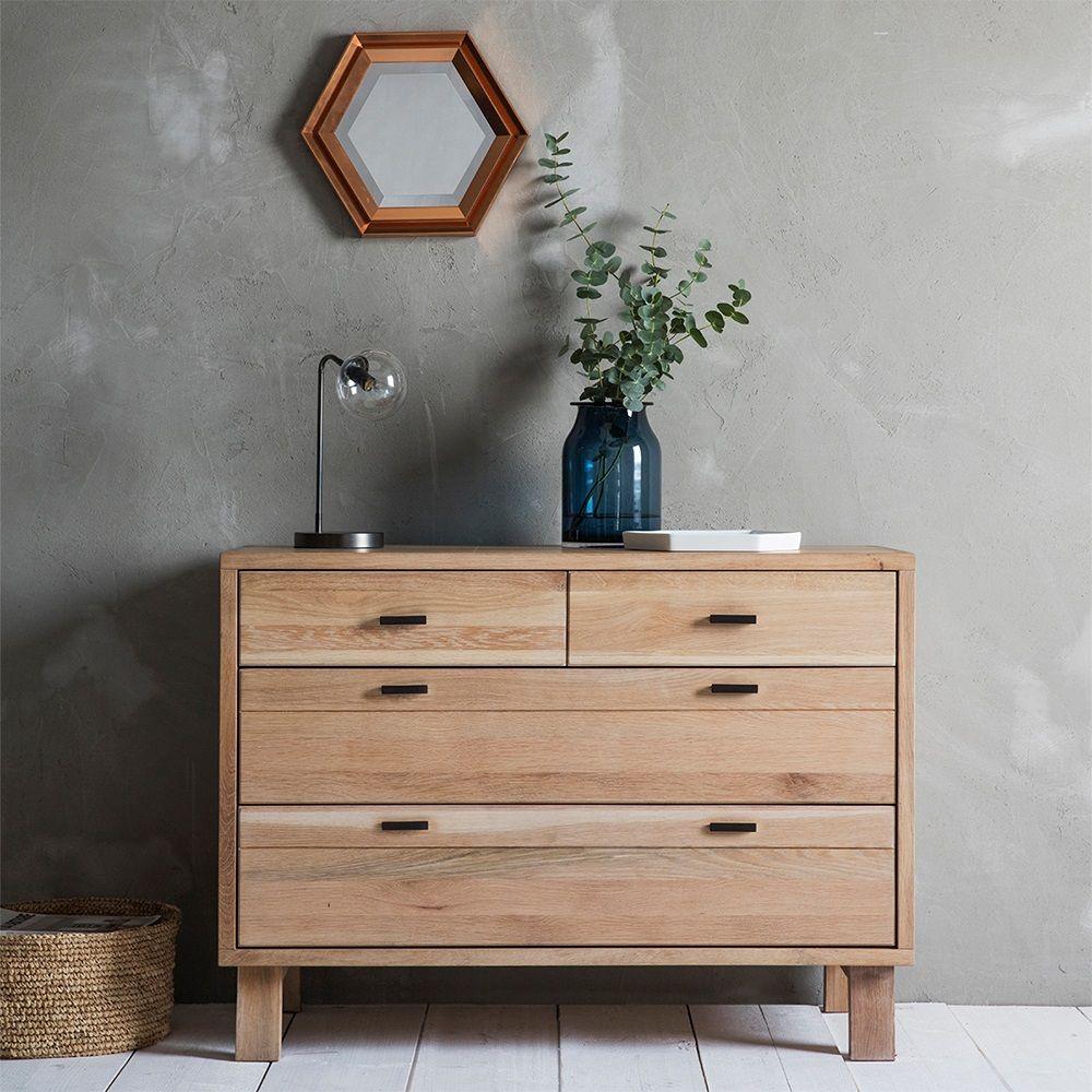 Oak Bedroom Chest Of Drawers Kielder Solid Oak Chest Of Drawers By Frank Hudson Drawers