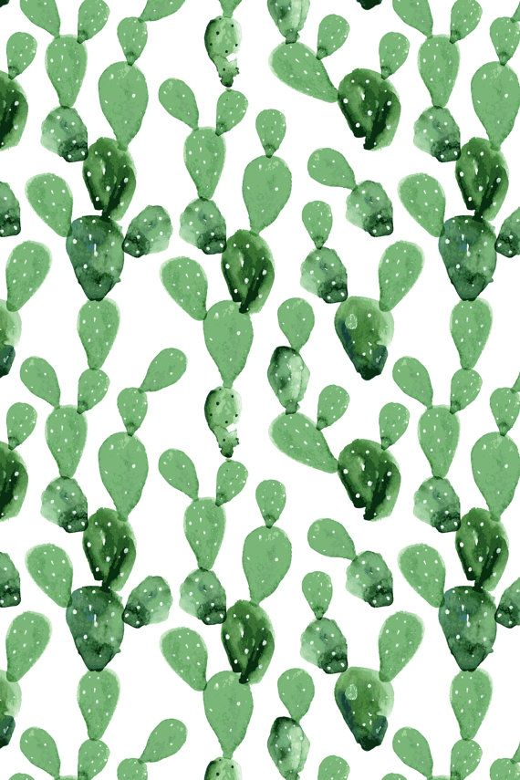 opuntia cactus cacti removable wallpaper cactus wallpaper watercolor wall mural cactus decor. Black Bedroom Furniture Sets. Home Design Ideas