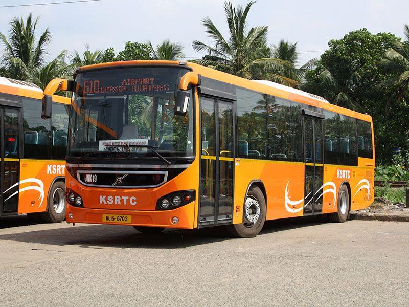 Volvo bus in Kochi, Kerala. bus India Source Wikipedia
