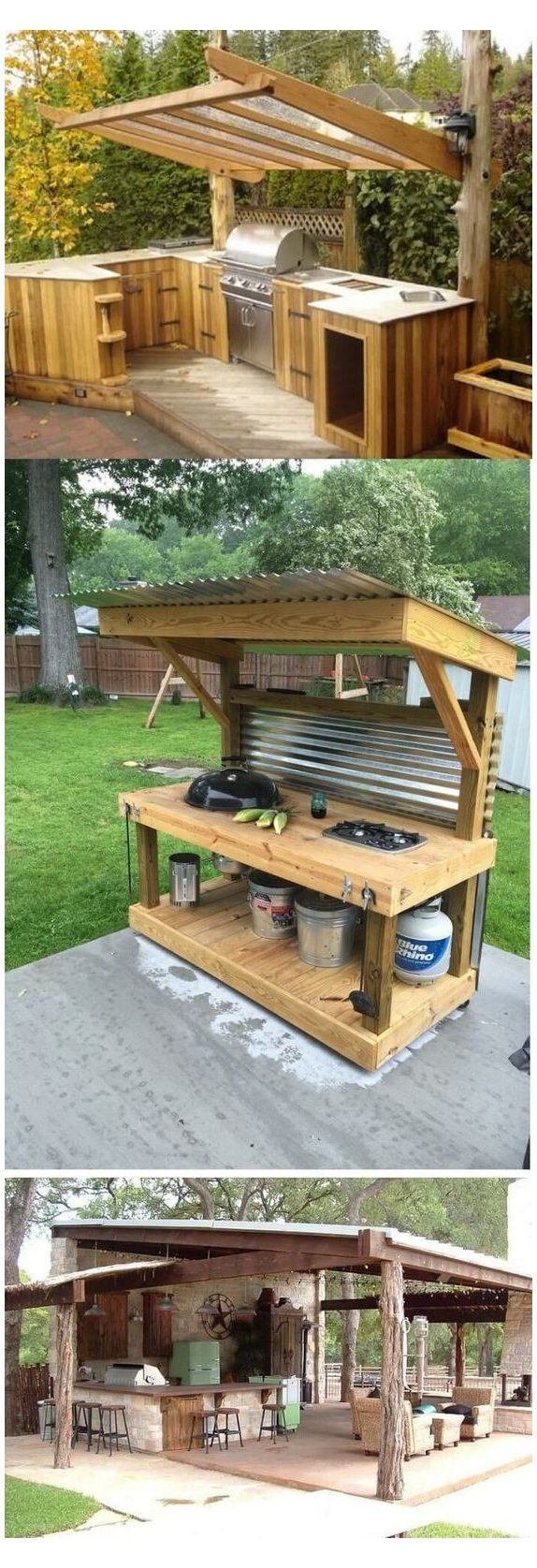 9 diy outdoor kitchen diy easy ideas and tutorial diy outdoor kitchen furniture on outdoor kitchen easy id=68274