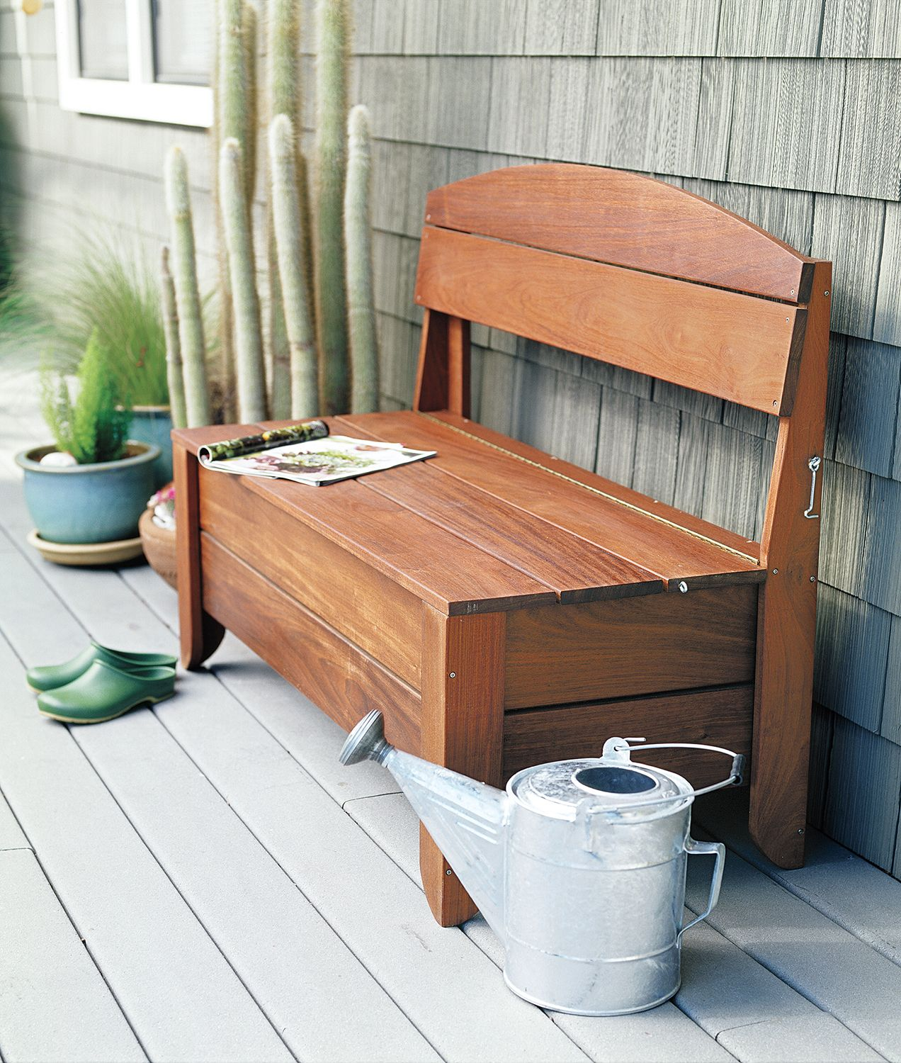 How to Build a Bench With Hidden Storage Outdoor storage