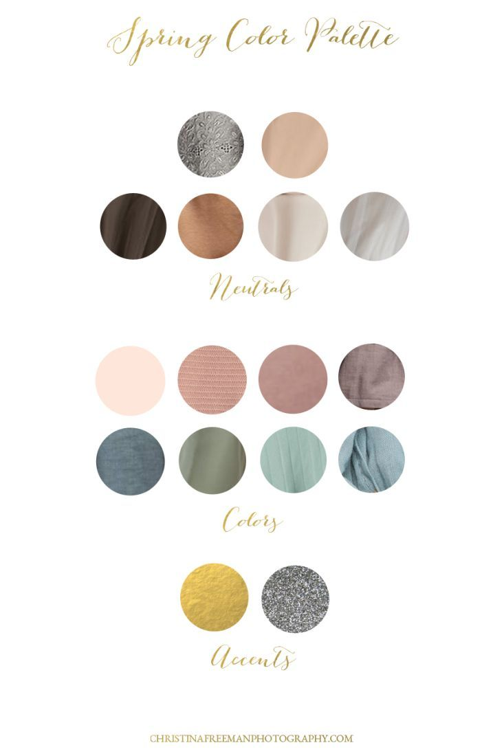 Spring Color Palette | What to Wear for your photo shoot | Christina Freeman Photography