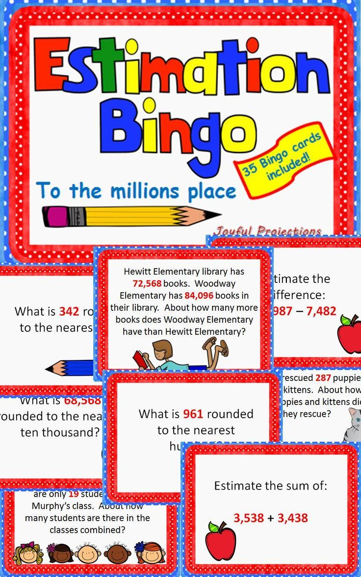 estimate estimation bingo classroom activity w 35 bingo cards math for fourth grade. Black Bedroom Furniture Sets. Home Design Ideas
