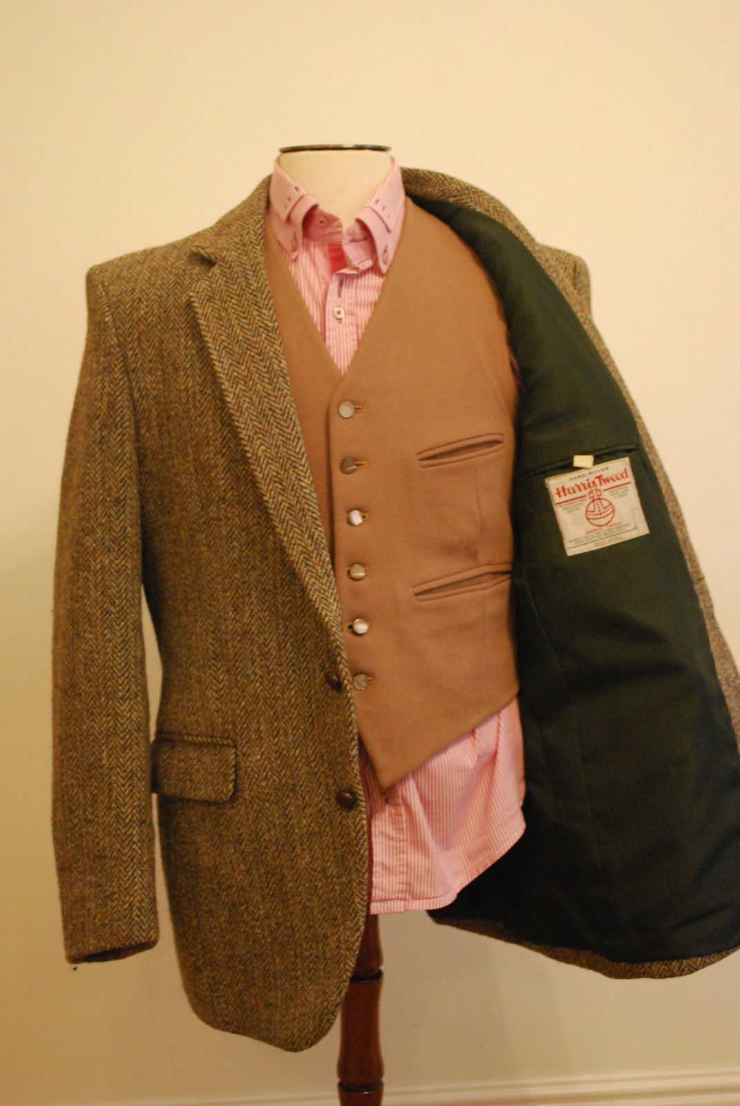 Harris Tweed Blazer Jacket Country Hacking Unbelievable Condition 44R | eBay