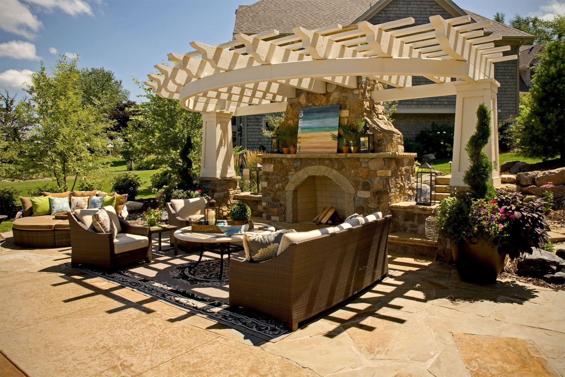 Gentil Architectural Exterior Fireplace | Southview Design: Outdoor Living   Backyard  Design U2013 Award Winning .