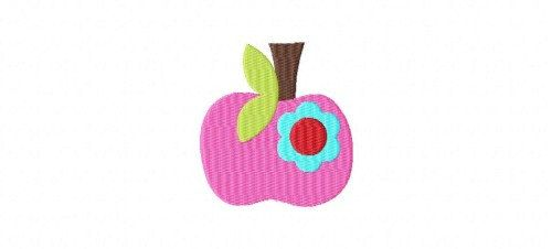 Apple Flower Mini Embroidery Design Machine Embroidery Back To