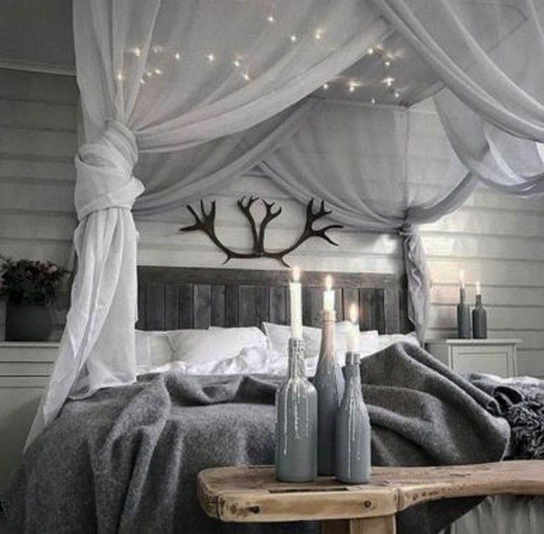 25 Suggestions To Take For Your Flat Zeltahome Com Canopy Bed Diy Bedroom Diy Bed Lights