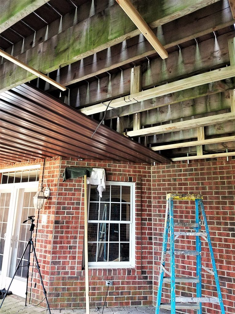 Diy Under Deck Roof And Drainage System Part 1 Under Deck Roofing Under Deck Waterproofing Roof Deck