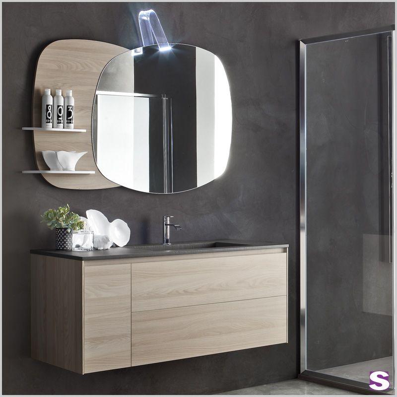 Badmobel Eroll Die Freundlich Wirkenden Fronten Des Badmobelsets Eroll In Ulme Nerz Farben Sorgen F Bathroom Mirror Lighted Bathroom Mirror Bathroom Lighting