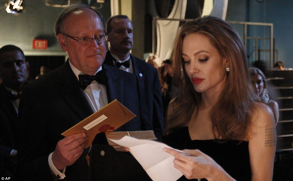 Angelina Jolie backstage...she is so beautiful...but a meal or two would be good!