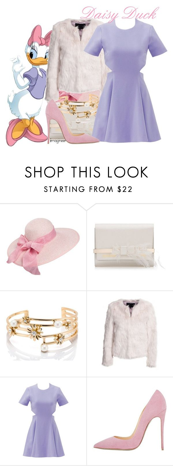 """""""Daisy Duck (Fab Five & Co.)"""" by claucrasoda ❤ liked on Polyvore featuring Kate Spade, mbyM, Elizabeth and James and fauxfurcoats"""