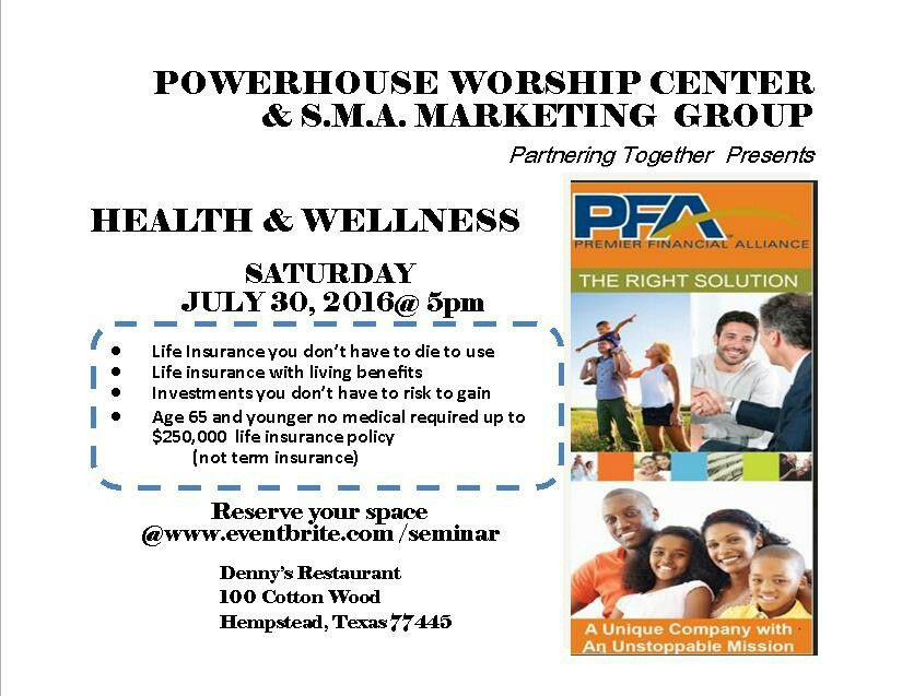 Life mattershealth and wellness this is a free event