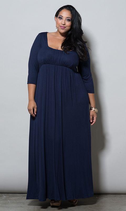 Navy Plus Size Maxi Dress | Must-Have items! | Pinterest | Fashion ...