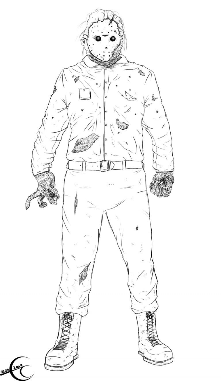 Jason Voorhees Coloring Pages | Coloring Page Blog