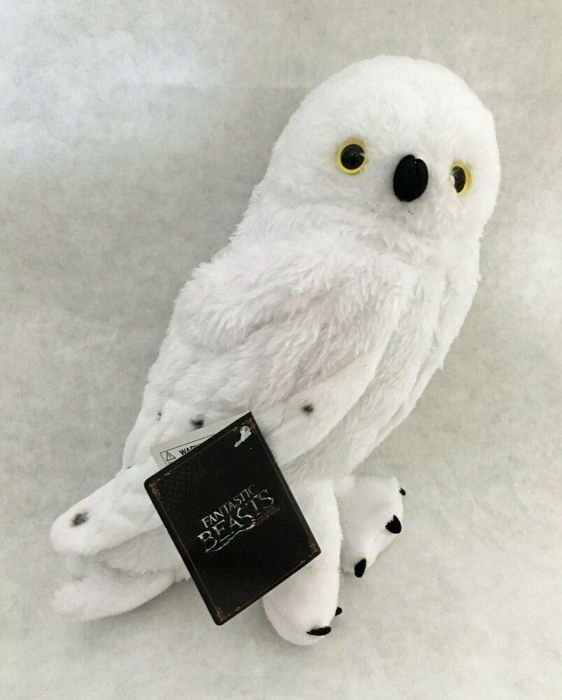 "Fantastic Beasts Harry Potter Hedwig 7/"" Owl Animal Plush"