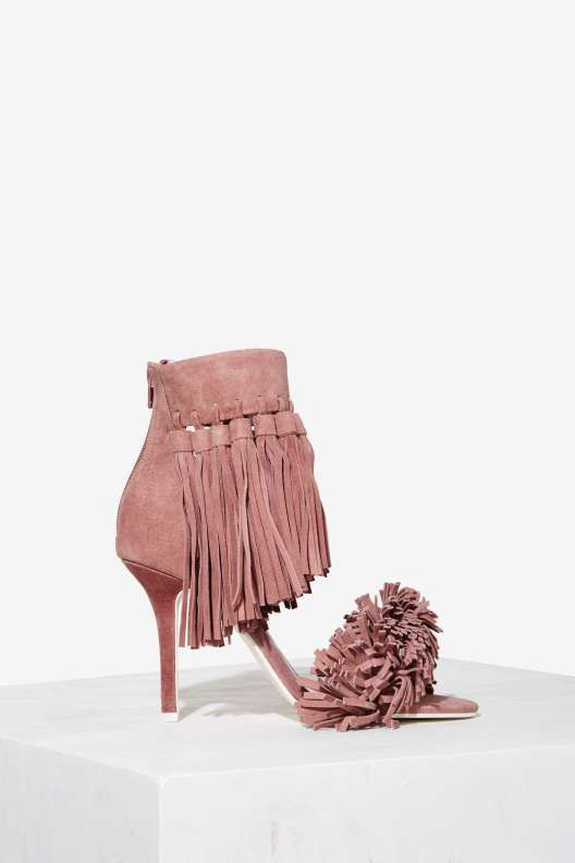 e7a7306d6b1a Jeffrey Campbell Inaba Fringe Suede Heel