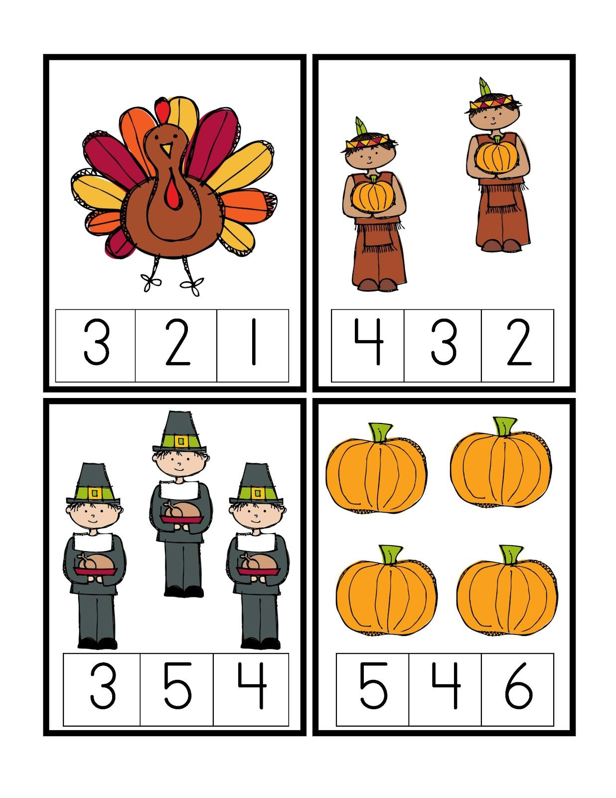 Preschool Printables Thanksgiving Printable