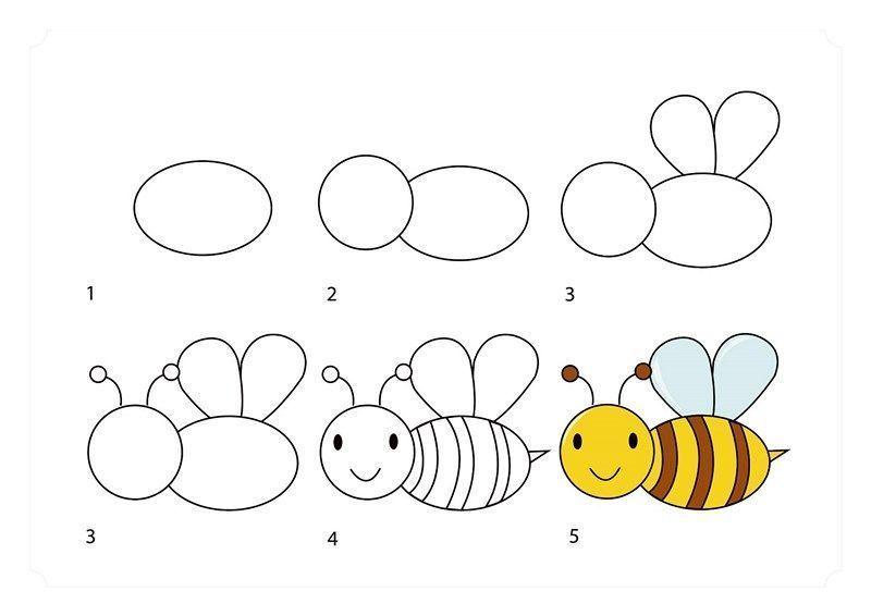 Pin On Bee Drawing