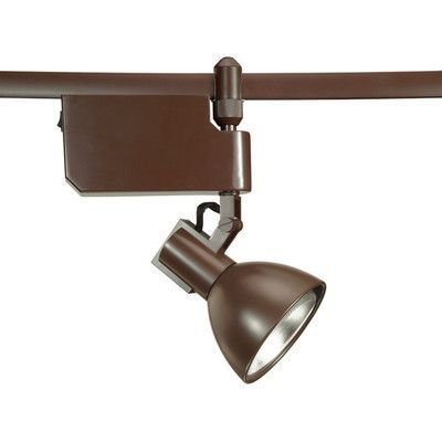 WAC Lighting Flexrail2 1 Light Line Voltage Track Head Bulb Type: 100W PAR38, Finish: Bronze
