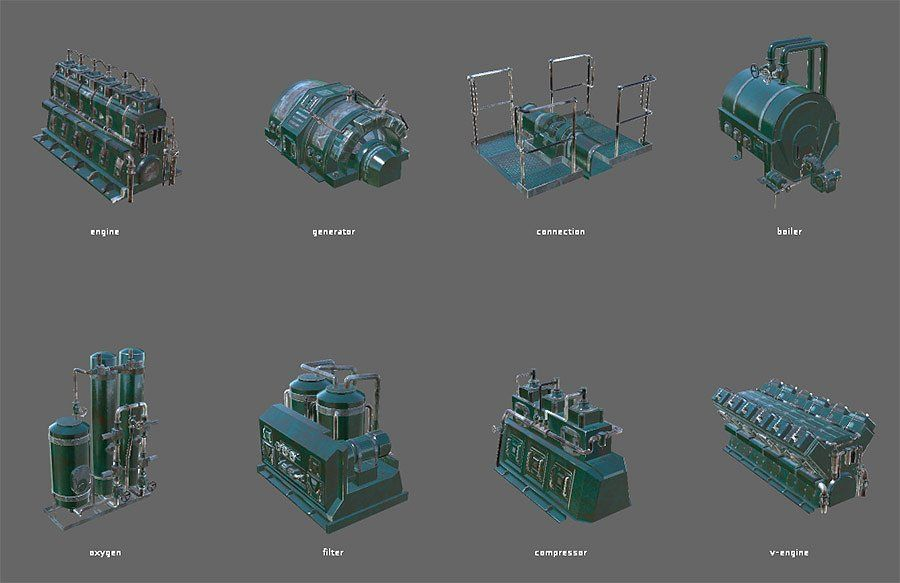 Engine room devices #Unity#sbsar#adjusted#color | design