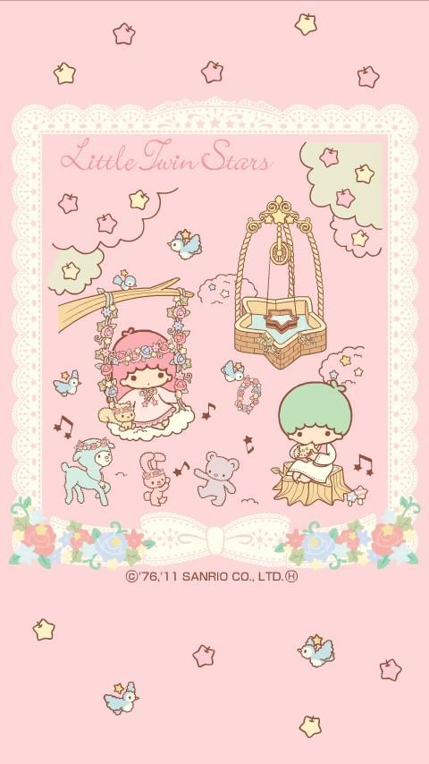 Little Twin Stars : Kiki&Lala Swing in the garden