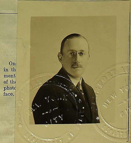 *THOMAS D. M. CARDEZA, 1917. Survivor of the Titanic disaste