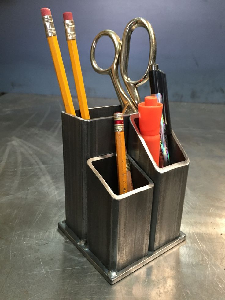 Desk Organizer By Yanick Bluteau Desk Organizer By Yanick Blut Welding Projects Welding Art Welding Table