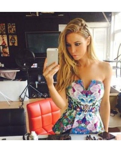 Lauren Pope spotted in Finders Keepers' Jump Then Fall Bustier, available on SIVVI.COM
