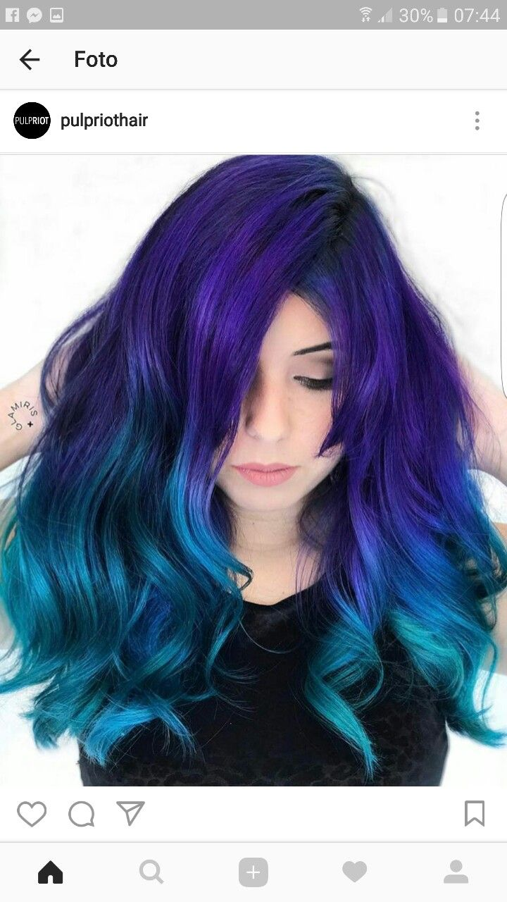 purple and black hair styles purple and blue hair hair cabello cabello te 241 ido y 1979 | e679192c2c6e9bd9550bacbb51f33246