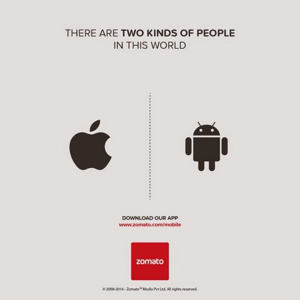 Zomato... ¿Sólo hay dos clases de personas en el mundo?