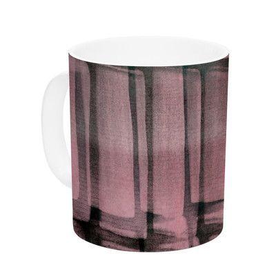KESS InHouse Reddish by Iris Lehnhardt 11 oz. Ceramic Coffee Mug