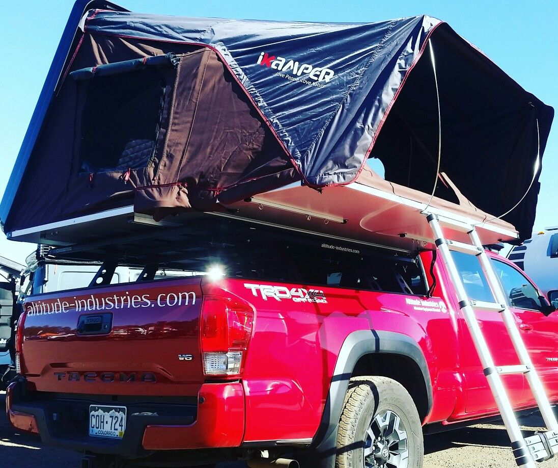 2017 Toyota with ikamper skycamp at Overland Expo
