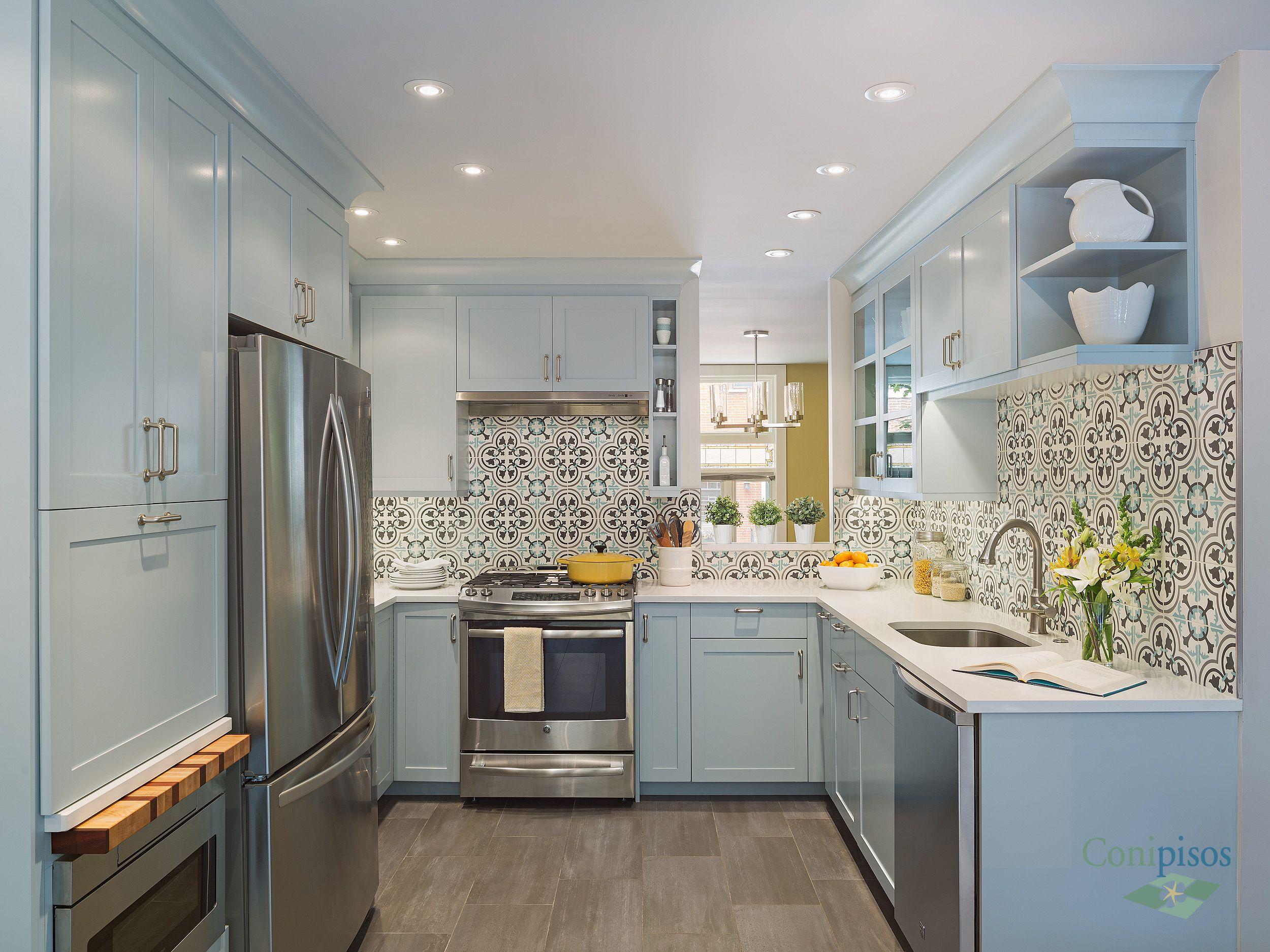 consigue el look moderno para tu cocina con nuestro diseo de pisos y - Azulejos De Cocina Modernos