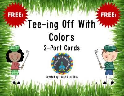 Tee-ing Off With Colors 2-Part Cards