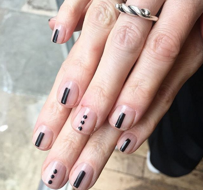 17 Stunning Minimalist Nail Art Ideas To Try While You Re Stuck At Home Minimalist Nails Minimalist Nail Art Funky Nail Art